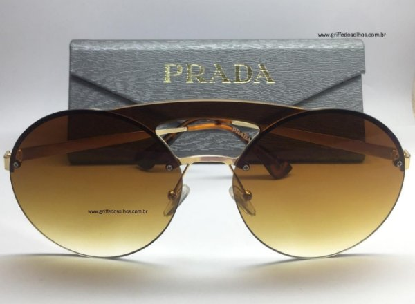 Prada Marrom - PR65TS  - Óculos de Sol Unissex