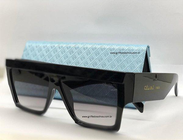 Celine Quadrado Preto 40030I 05B - Óculos de Sol