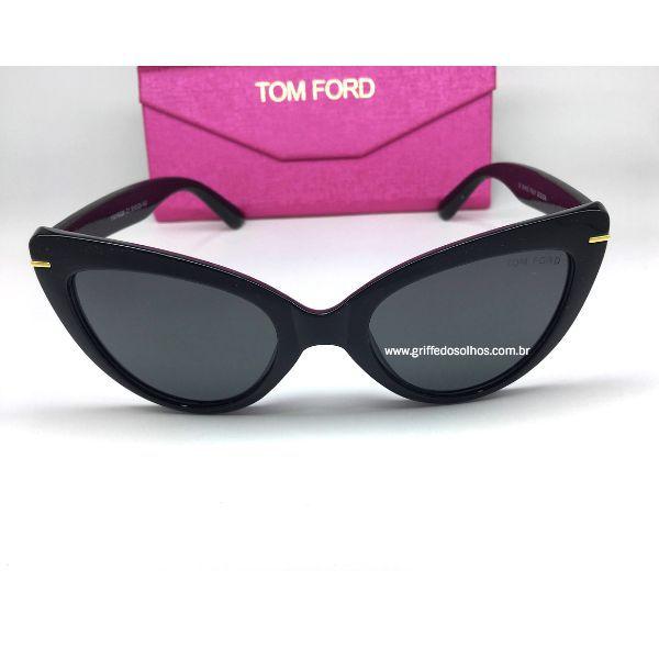Oculos Tom Ford Feminino Gatinho Vintage Preto