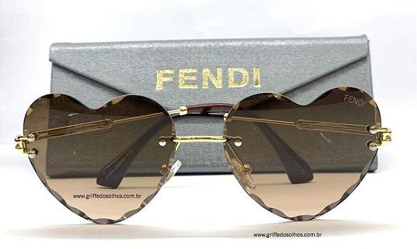 Óculos De Coração Retrô  Fendi - Tendência