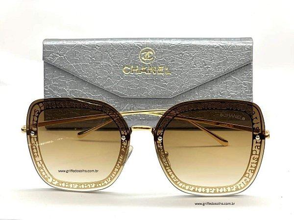 Óculos de Sol Feminino Chanel Quadrado / Paris