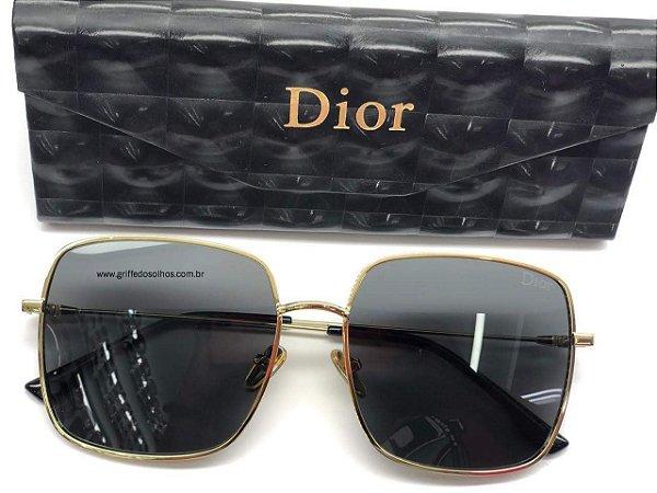 Dior by Dior 3F J5GA9 Cinza - Oculos de Sol  / Armação Leve Dourada