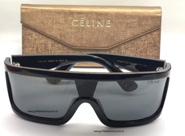 Óculos de Sol Céline Ciclope Mascara  - Tendência 2020 Tamanho Único/ Preto