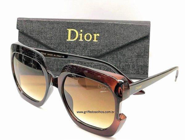 Dior Gaia 807IR Marrom  Quadrado - Oculos de Sol