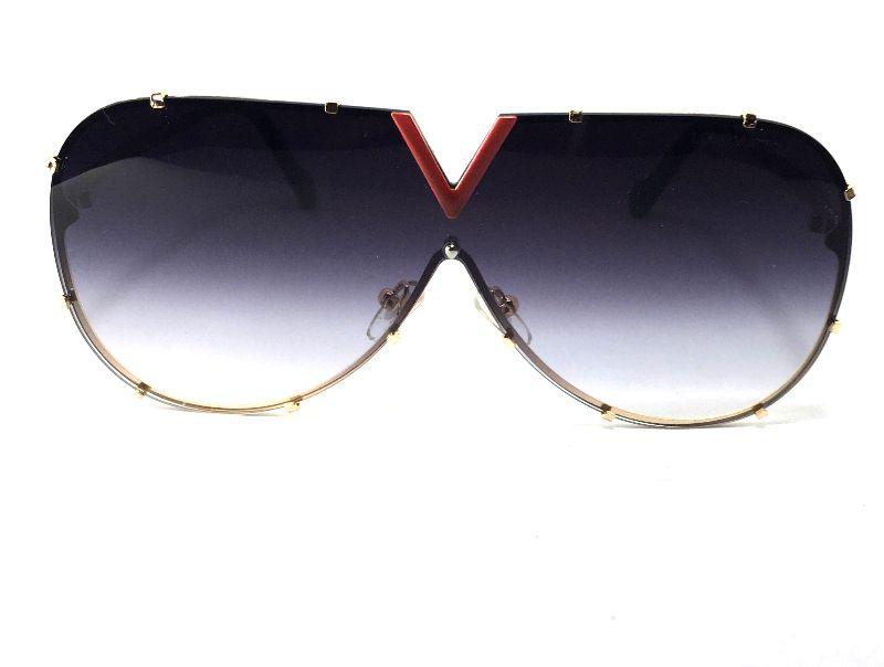 Óculos  de Sol - Louis Vuitton Drive Evidence Luxo - Lente Cinza Degrade
