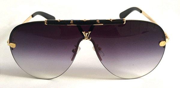 Louis Vuitton  Máscara  - Óculos de Sol Unissex / Lente Cinza Degradê