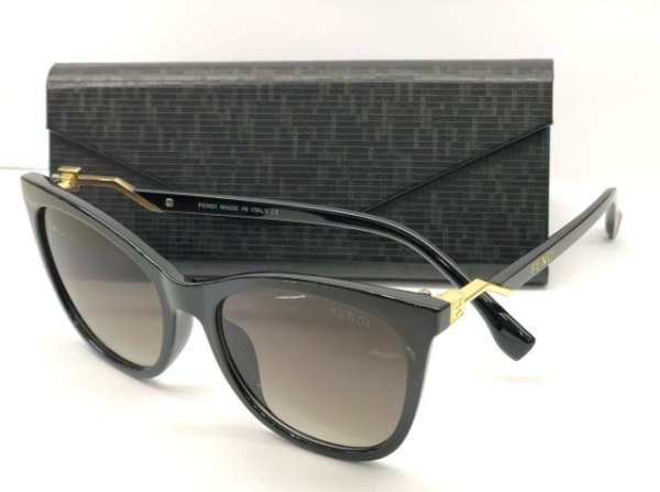 Fendi - Cube Preto FF 0200/S 086HA - Óculos de Sol