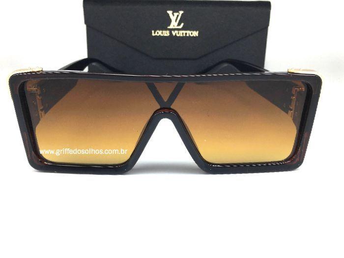 Oculos  Louis Vuitton Square  - Armação Marrom