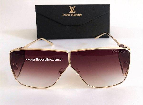 Tom Ford Spector  0708 Marrom -  Oculos de Sol Unissex  Grande Grande