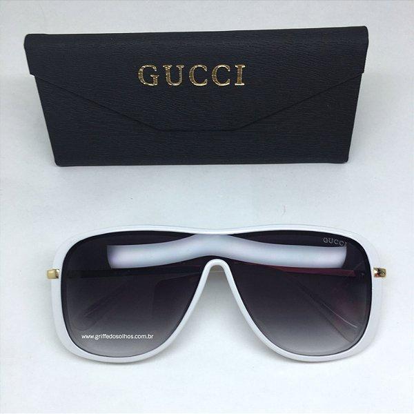 Oculos de Sol Gucci  Mascara Modelo Unissex Branco