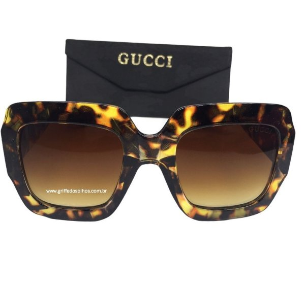Óculos Quadrado GUCCI  GG0053S - Armação Tartaruga