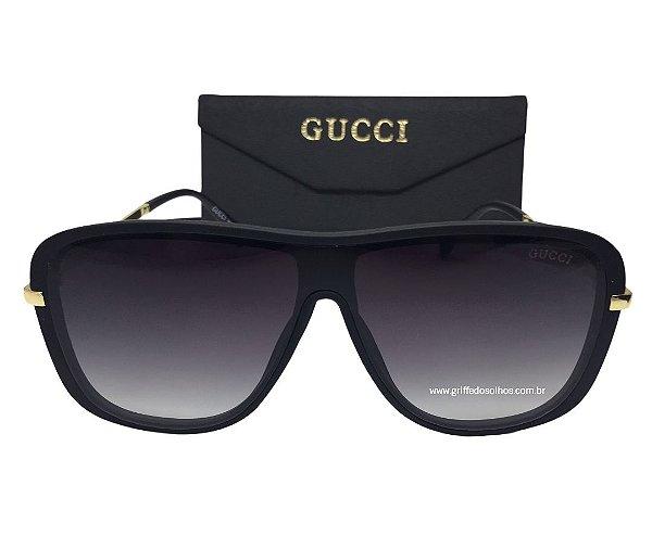 Oculos de Sol Gucci  Mascara Modelo Unissex Preto