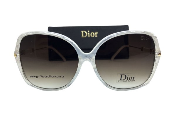 Óculos de Sol Feminino Dior - Borboleta Branco Perolado
