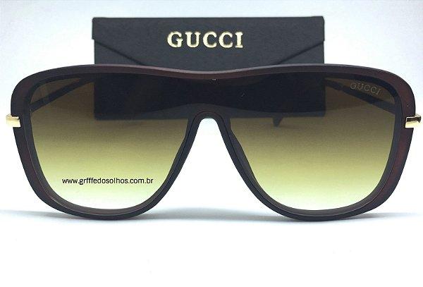 Oculos de Sol Gucci  Mascara Modelo Unissex / Lente Verde Musgo