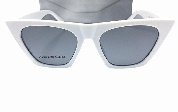 Óculos de Sol Céline Paris Edge Branco Cl41468/S -  Armação Acetato Branco