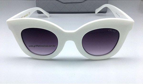 Óculos Branco  Céline Marta CL 41093/S Gatinho  Tamanho Pequeno