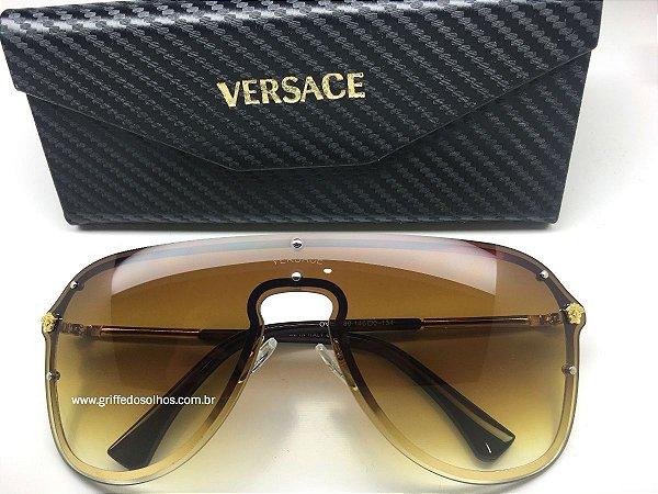 Óculos De Sol Versace Medusa 2180 1000 - Máscara Marrom (1000/6G)