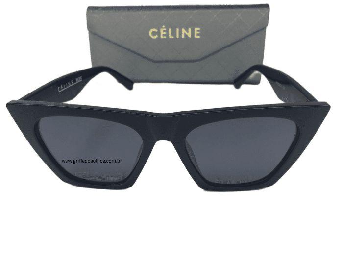 Óculos de Sol Céline Paris Edge  Cl41468/S - Armação  Preto Acetinado