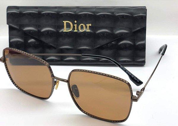 Óculos de Sol Quadrado Dior by Dior 3F J5GA9  - Christian dior  Óculos Marrom