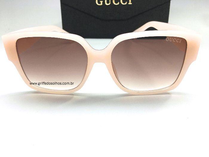 Óculos  de Sol Gucci - Quadrado Rosa Feminino