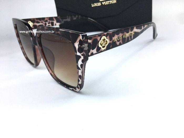Óculos de Sol Clássico Louis Vuitton / Leopard