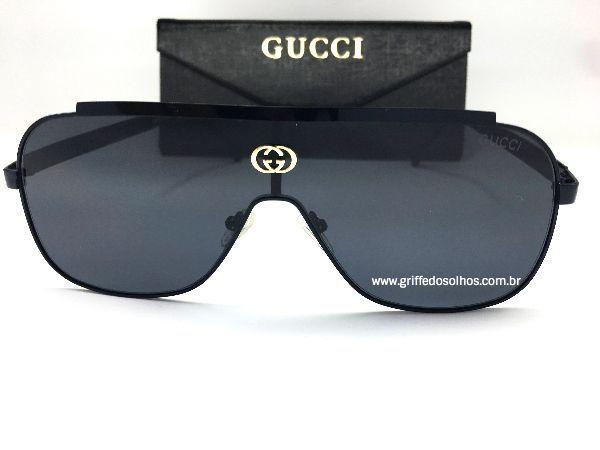Óculos de Sol GG Gucci Máscara - Lente Preto