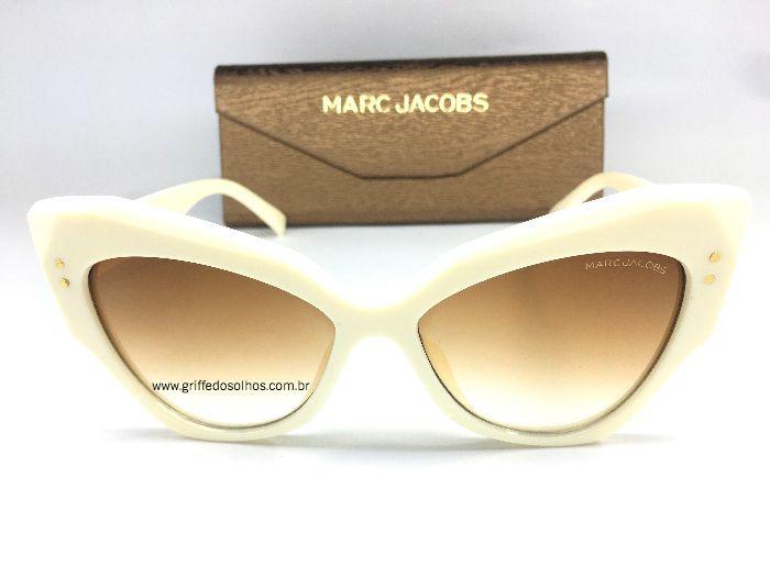 Óculos Retro Marc Jacobs - Gatinho Creme