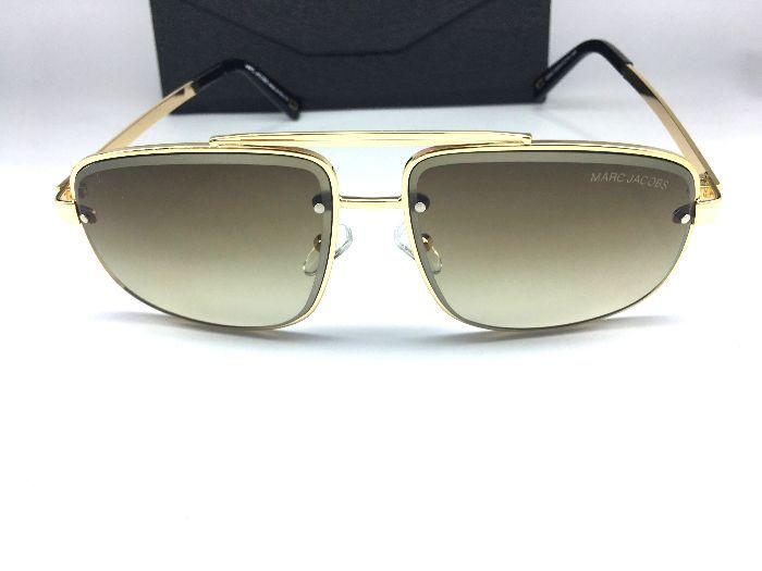 Marc Jacobs Óculos de Sol -  Metal Quadrado Dourado