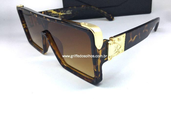 Oculos Quadrado Louis Vuitton Square - Armação Tartaruga