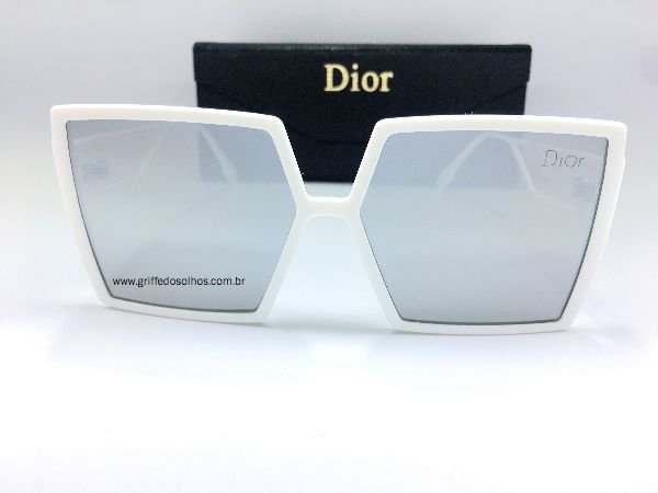 Óculos de Sol Quadrado Dior 30 MONTAIGNE - Branco