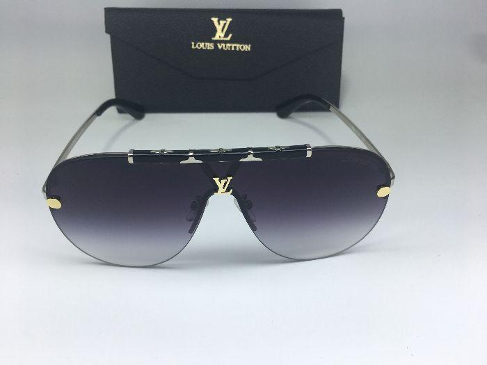 Louis Vuitton LV  Máscara Aviador Prata  - Óculos de Sol Unissex / Preto