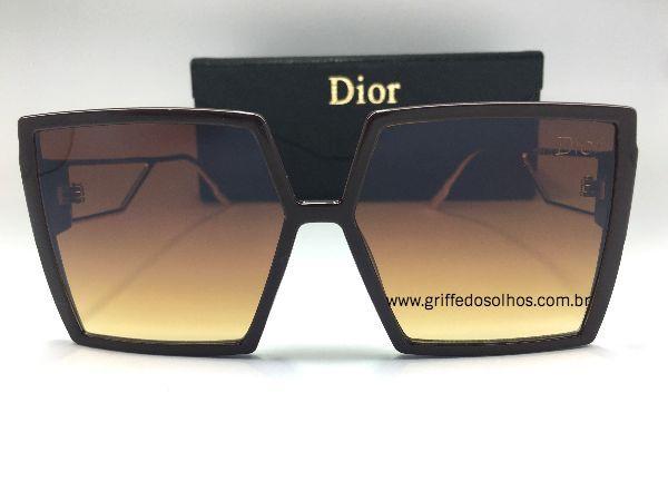 Óculos de Sol Quadrado Dior 30 MONTAIGNE - Marrom