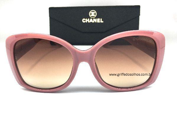 Chanel Letra 3D - Oculos de Sol /  Rose