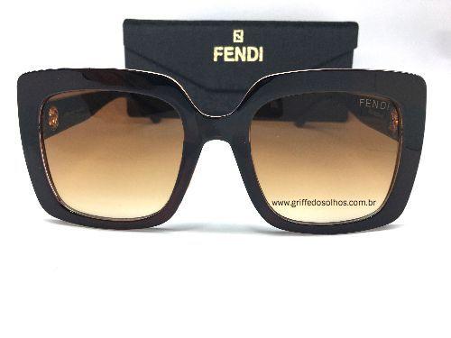 Óculos de Sol Fendi Clássico - Armação Quadrado