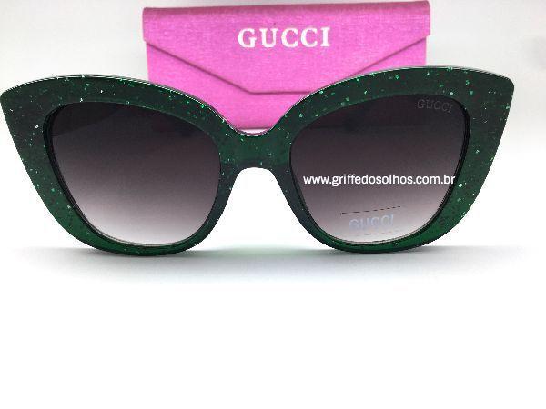 Oculos de Sol Gucci Brilho / Gatinho