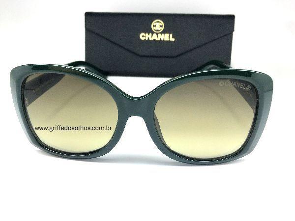 Chanel Letra 3D - Oculos de Sol /  Verde