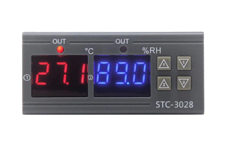 Controlador de temperatura  e umidade d STC-3028