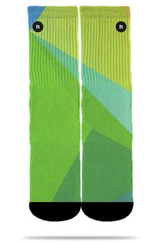 Geométrico Verde - Meias ItSox