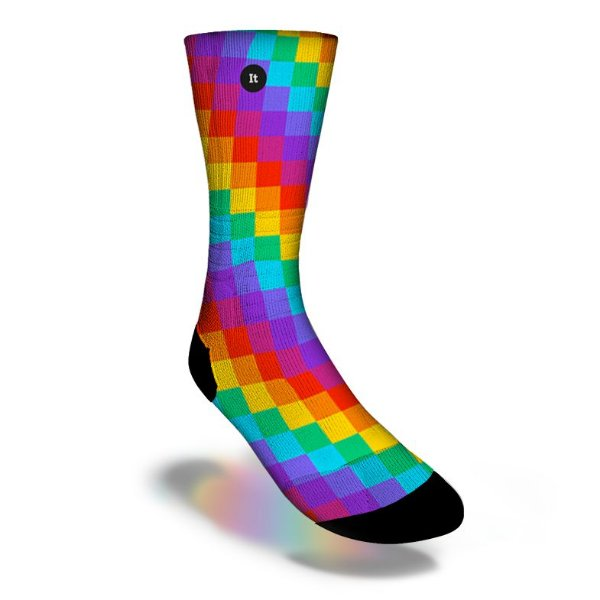 Arco-íris Quadrado Colorido - Meias ItSox