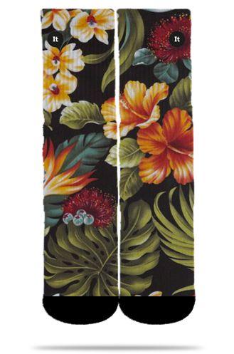 Floral Black - Meias ItSox