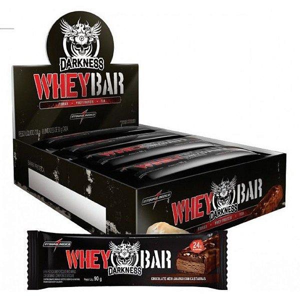 Whey Bar Fix Darkness - Integralmédica - 8 Barras de 90g