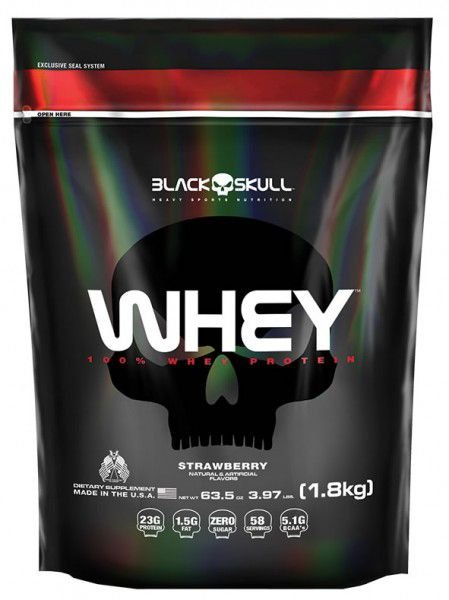 WHEY 100% REFIL - BLACK SKULL
