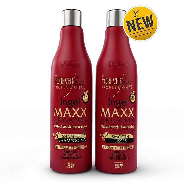 Nova Escova Progressiva Ingel Maxx Forever Liss 2x1 litro