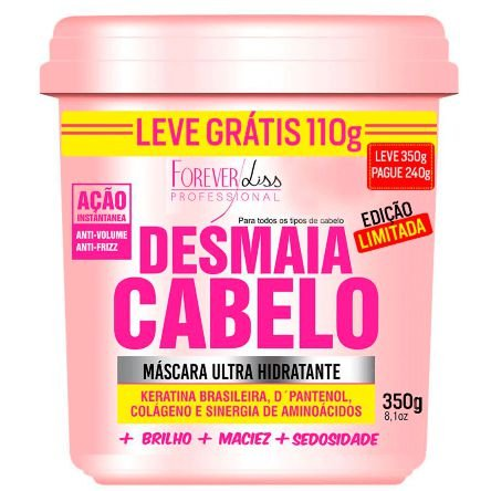 Forever Liss Máscara Ultra Hidratante Desmaia Cabelo 350gr