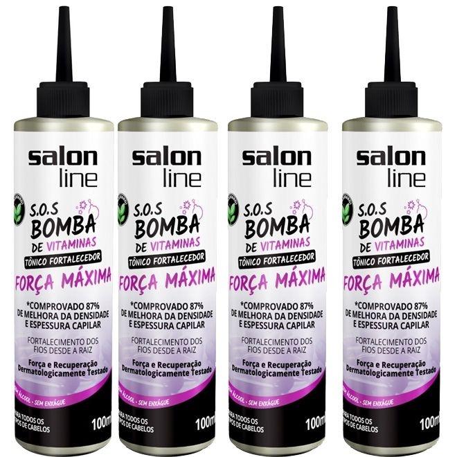 Combo 4 Tonicos Força Máxima SOS BOMBA