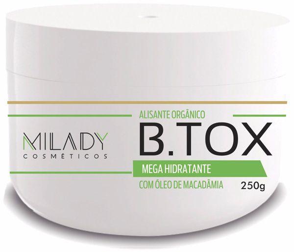 Btox Alisante Organico 250g Milady Cosméticos