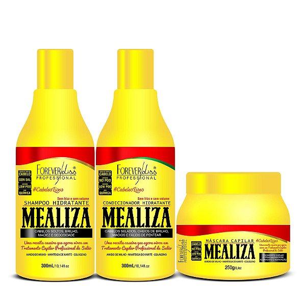 Kit Alisamento  Maizena Capilar MeAliza Forever Liss