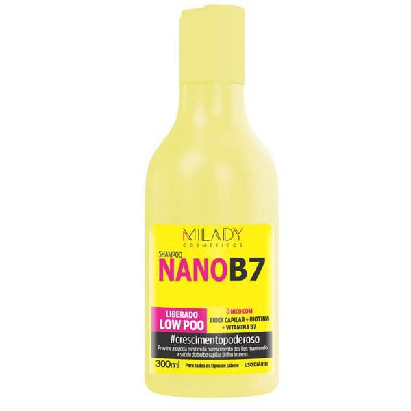 Shampoo Nano B7 Milady Cosméticos