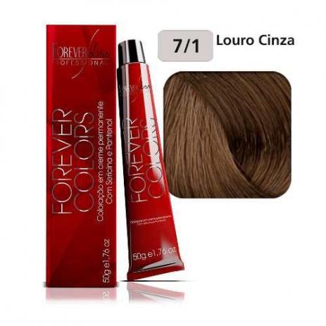 Coloração Forever Colors - Cinza 7-1 Louro Cinza