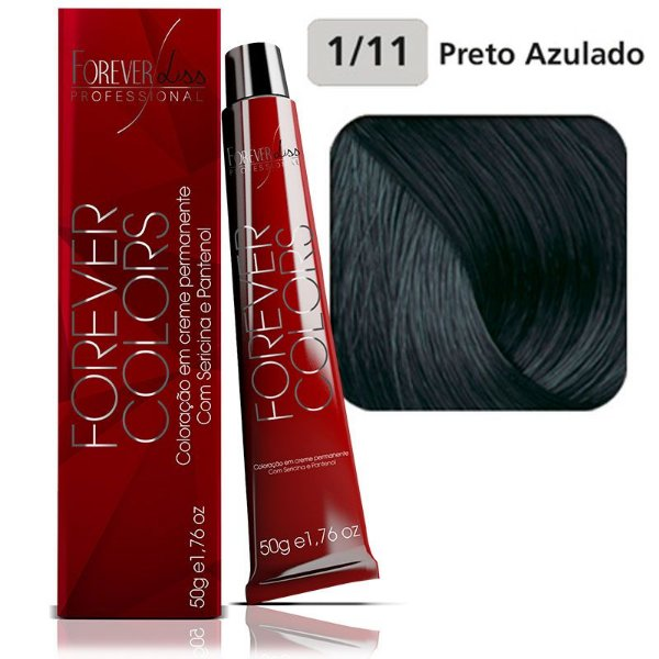 Coloração Forever Colors - Preto 1-11 Preto Azulado